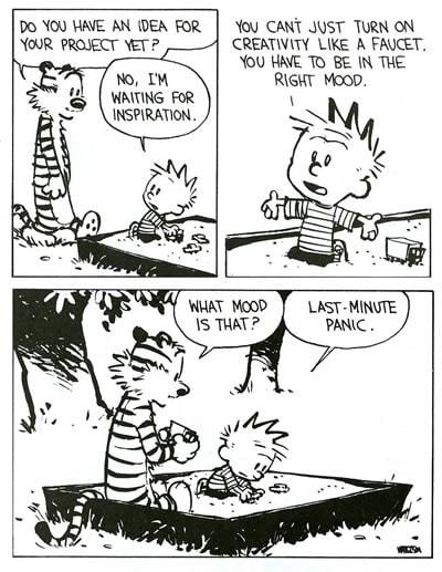 Creativity by Calvin & Hobbs