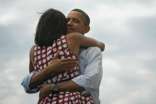 Obama Hug Michelle