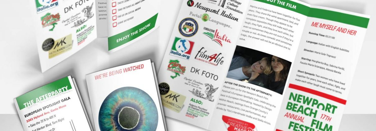 Newport Beach Film Festival Italian Spotlight Brochures