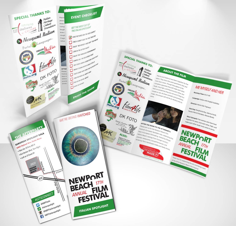 Newport Beach Film Festival Italian Spotlight Brochures