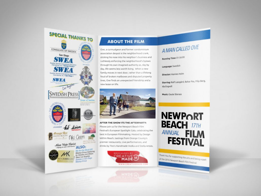 Newport Beach Film Festival Swedish Spotlight Brochure